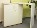 Sideboard mit drehbarem Besprechungsansatz Dekor Baleareneiche - perlweiß